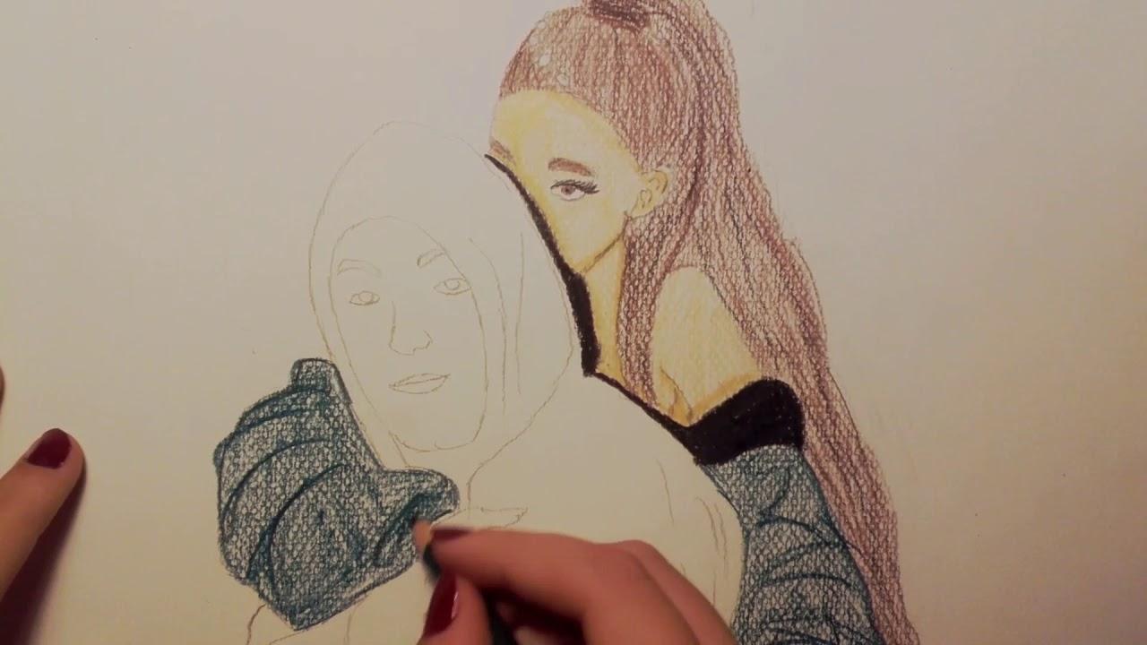 Draw Ariana Grande  U0026 Mac Miller