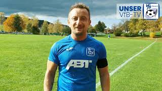 Interview mit Adi Schaumann nach dem Ligapokalspiel UNSERER Dritten in Altusried - UNSER VfB-TV