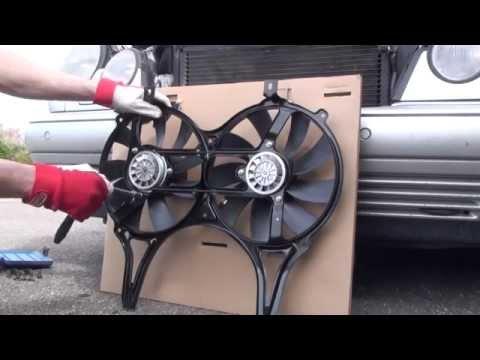Замена вентиляторов на радиаторе Mercedes W210 replacement radiator fan