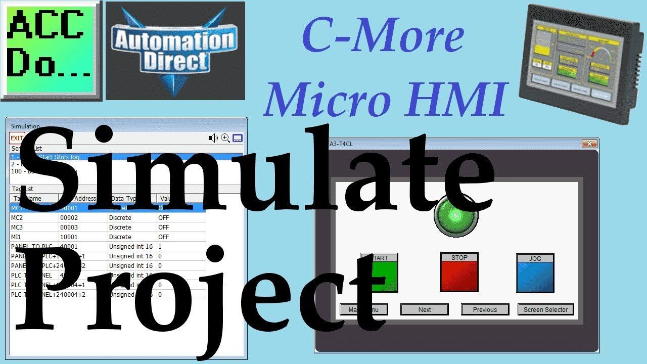 C More Micro HMI Simulate Project - YouTube