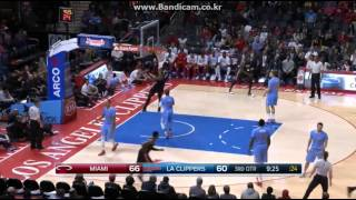 Hassan Whiteside 23Pts, 16Reb, 2Blk vs LAC (2015.01.10)