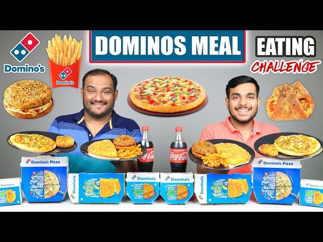 DOMINOS MEAL EATING CHALLENGE   Pizza Eating Competition   Food Challenge