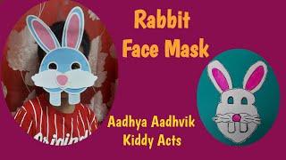 Rabbit face mask How to make rabbit mask DIY rabbit mask Kiddy Acts