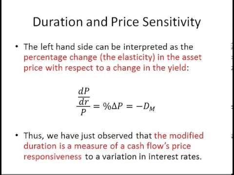 Duration and Price Sensitivity