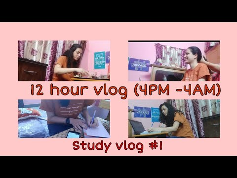 Download Study Vlog #1   12 hour vlog   Life of a banking aspirant