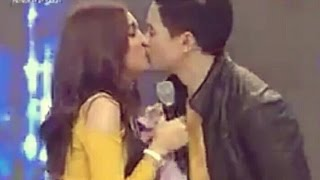 Alden Richards and Maine Mendoza (AlDub) First Kiss March 5, 2016