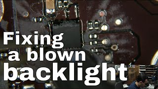 Basic no backlight repair on 820-3437 Macbook Air logic board with troubleshooting hints