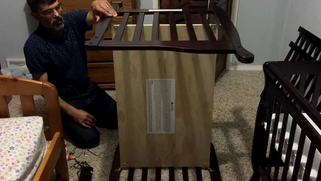 Dream On Me Convertible Crib Assembly Review Youtube