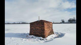 Рыбалка с ночевкой дом на льду