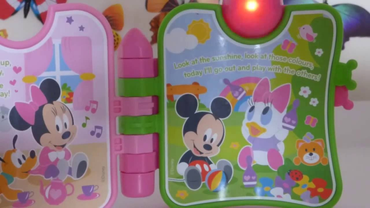 Disney Baby   Baby Minnie Mouse Activity Book Clementoni   YouTube