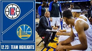 Clippers at Warriors Game Highlights | 12/23