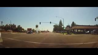 Driving around Bakersfield, California