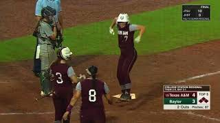 Softball: Highlights | A&M 10, Baylor 4