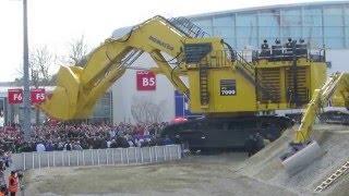 Massive PC 700 Komatsu at Bauma 2016 Construction Equipment Display - Messe München