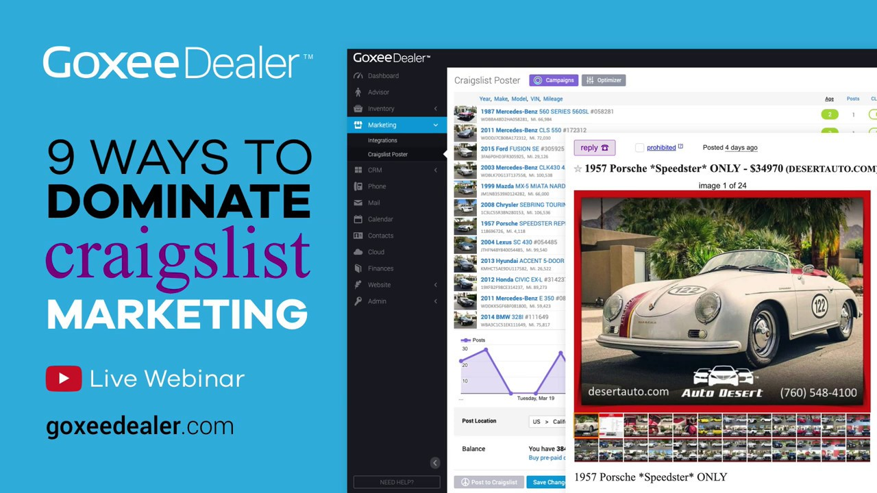 Craigslist Auto Posting Software for Car Dealers - YouTube