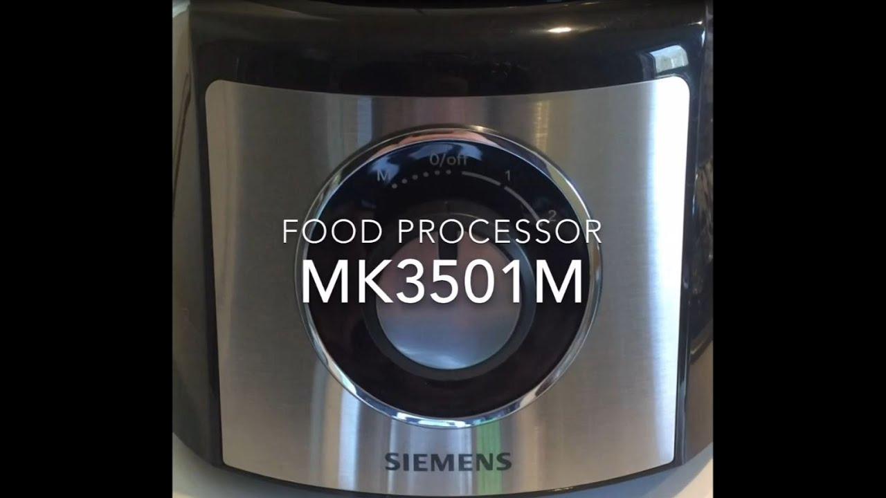 Siemens Mk3501m Food Processor Kuchenmaschine In Action
