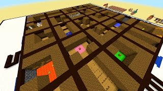 Minecraft 1.8 MOVING LABYRINTH CHALLENGE MAP#1 with Vikkstar, PeteZahHutt & Logdotzip