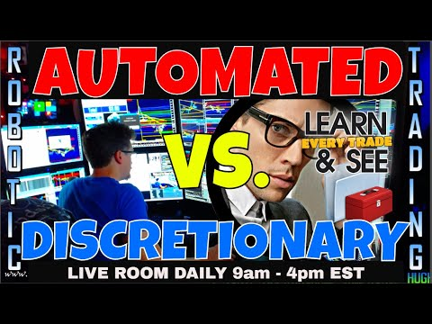 TOP Automated Trading System vs. Discretionary Trading | FULL TRAINING DAY | FUTURES | FOREX