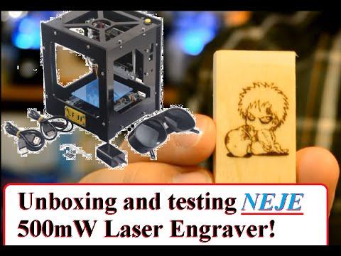 Colemeter Pro 5 500mw Lasergravurmaschine Tutorial