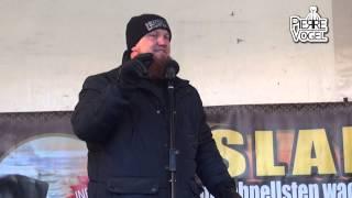 Friedensaktivist Pierre Vogel hält Hasspredigt in Berlin Neukölln (25.01.14)