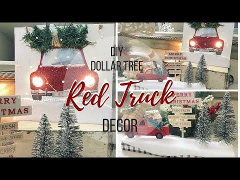 DIY DOLLAR TREE RED TRUCK DECOR