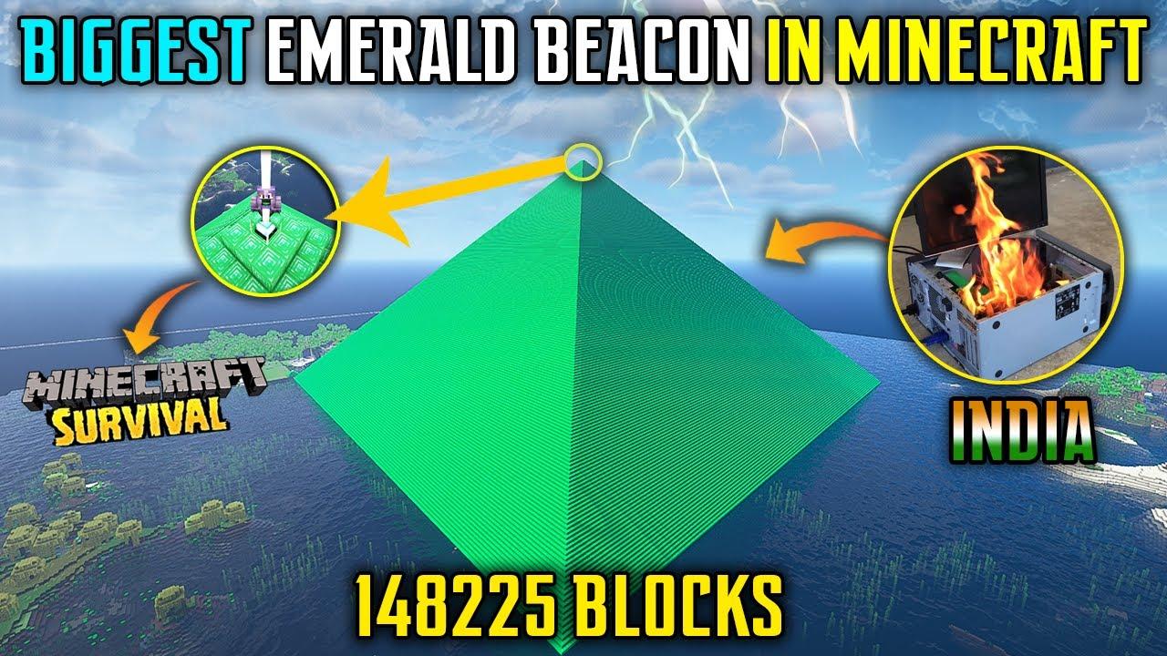 Download 😱I BUILD BIGGEST BEACON IN SURVIVAL MINECRAFT - TEDDY GAMING