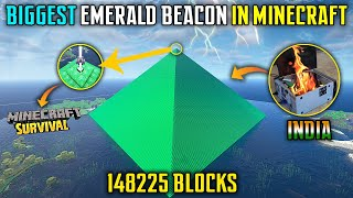 😱I BUILD BIGGEST BEACON IN SURVIVAL MINECRAFT - TEDDY GAMING screenshot 4