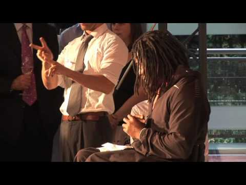 Channel 4 + London 2012 Paralympic Games.Ade Adepitan speech
