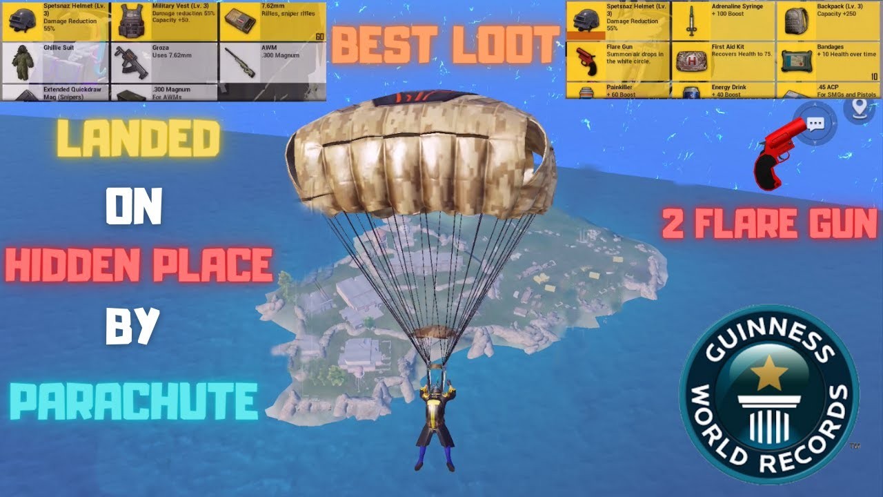 Download Traveling To Spawn Island Hidden Place By Parachute Got 2 Flare Gun Best Loot World Record Pubg