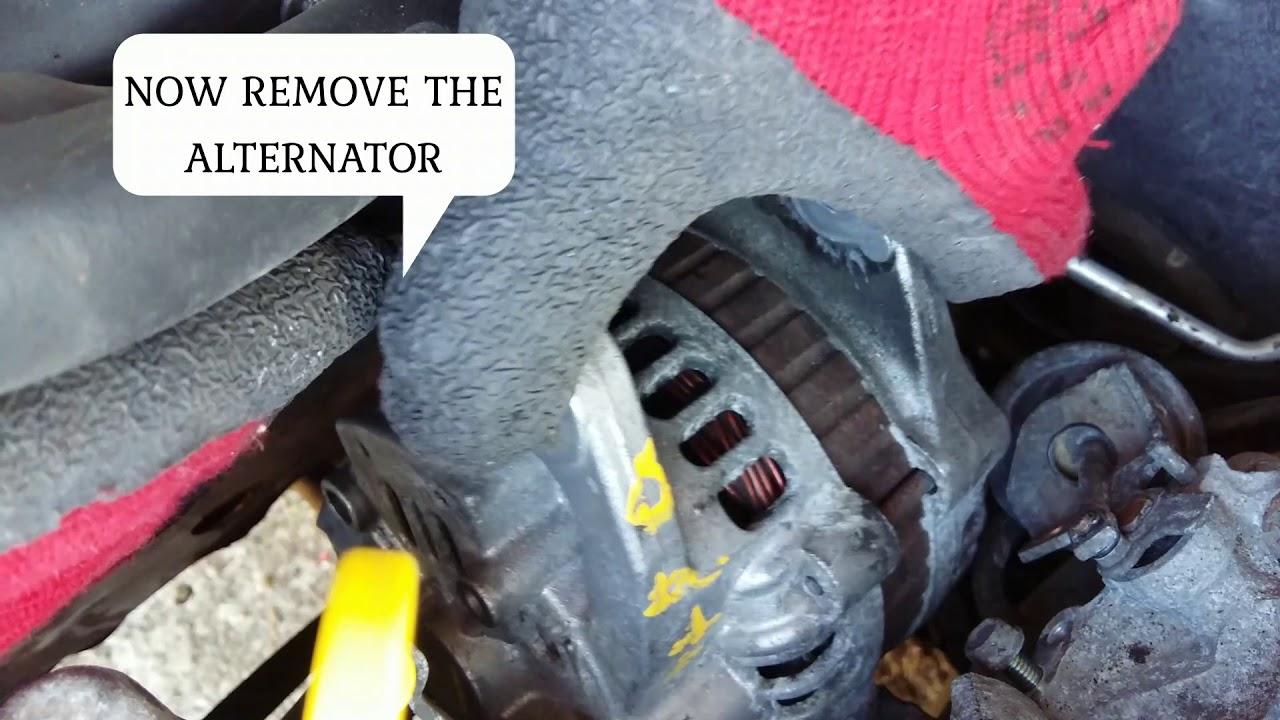 2000 mazda protege alternator removal by: mekanikong pinoy