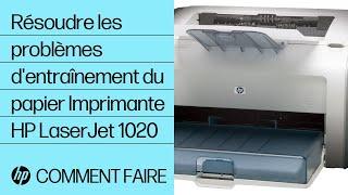 Résoudre les problèmes d'entraînement du papier - Imprimante HP LaserJet 1020