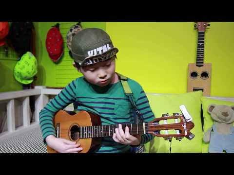 While my guitar gently weeps - The Beatles (arr.by Jake Shimabukuro) Ukelele cover by 8year-old kid)