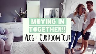 WE'VE MOVED IN TOGETHER!! | OUR NEW ROOM TOUR | Couple's Vlog