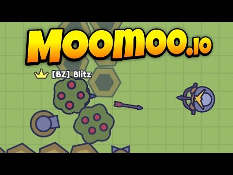 MooMoo.io - Awesome Turret Base Defense! - Turret Update! - Let's Play MooMoo.io Gameplay