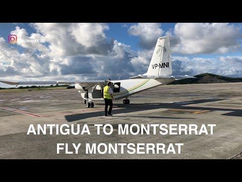 FLY MONTSERRAT   ANTIGUA TO MONTSERRAT   BN-2 ISLANDER   TRIP REPORT