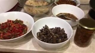 Солянка с грибами  на зиму. Очень вкусное блюдо.