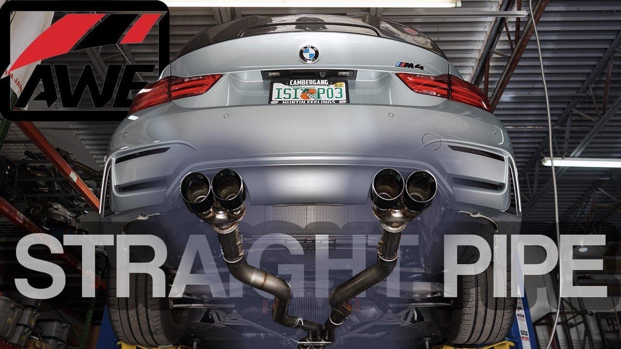 awe exhaust install bmw m4 loud