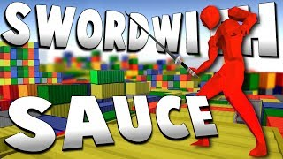 THE SHIPPING CONTAINER MAZE! - Workshop Levels Update! - Sword With Sauce Alpha Gameplay