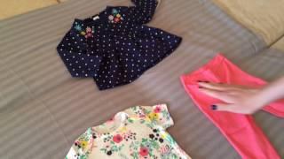 Обзор детской одежды Carter's Картерс на девочку 12 и 18 месяцев