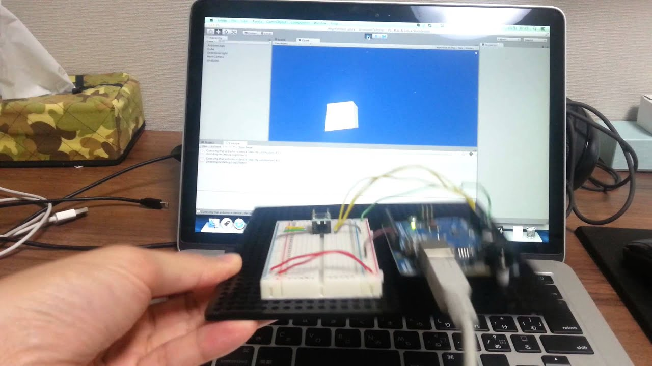 Control unity object with arduino angle sensor youtube