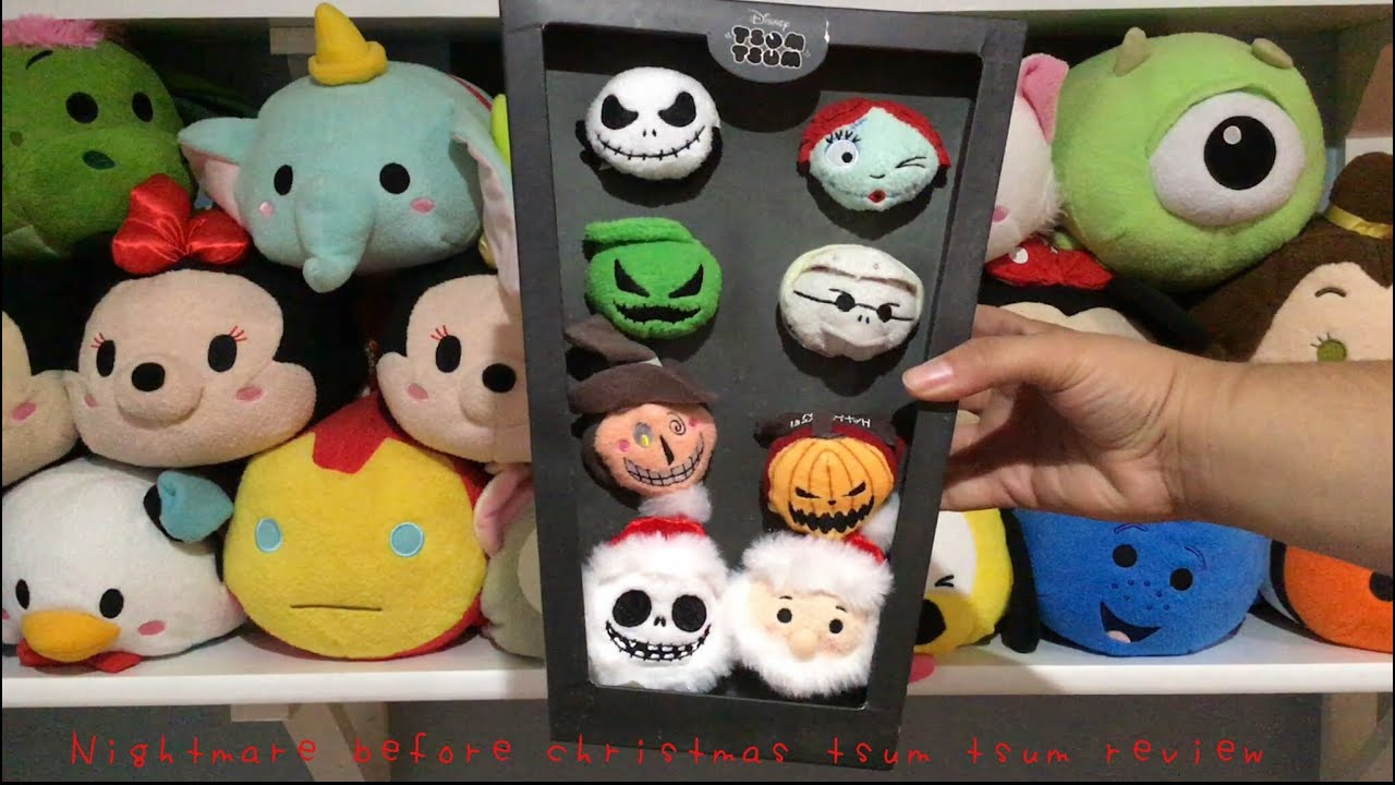 Nightmare before Christmas tsum tsum box set! - YouTube