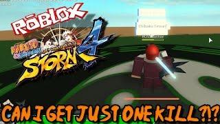 POSSO OBTER APENAS UM KILL?!? | Roblox: Naruto Shippuden Ultimate Ninja Storm 4