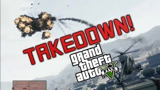 Grand Theft Auto 5 - Taking Down Police - AUTO AIM ROCKETS BABY! (GTA V Gameplay)