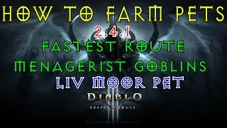 DIABLO 3 (2.4.1) Guide - PETS - Location & Fast Menagerist Goblin Route for PET drops