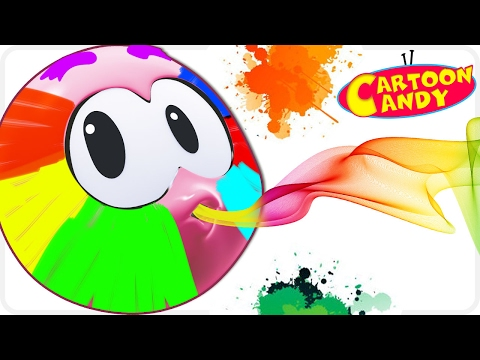 Learn Colors with Face Painting - WonderBalls | Cartoons For Children  | Cartoon Candy