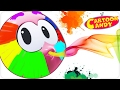 Colors with Face Painting | WonderBalls | Cartoons For Children  | Cartoon Candy