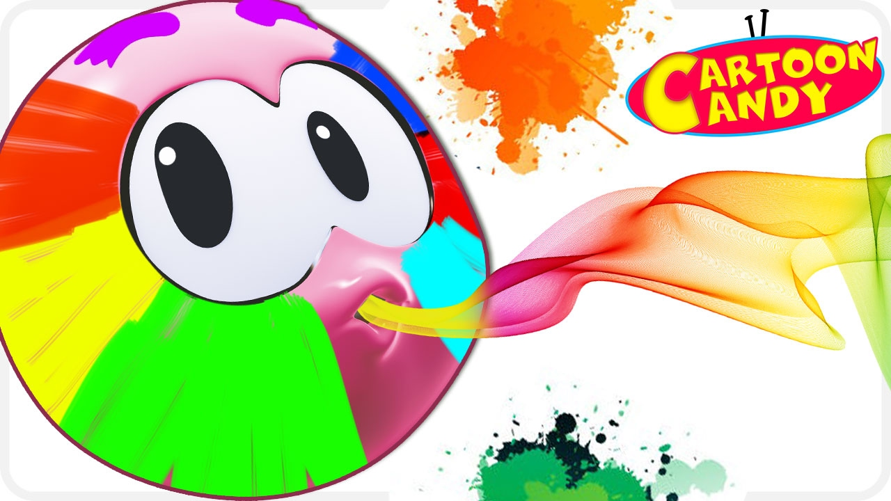 colors with face painting wonderballs cartoons for children