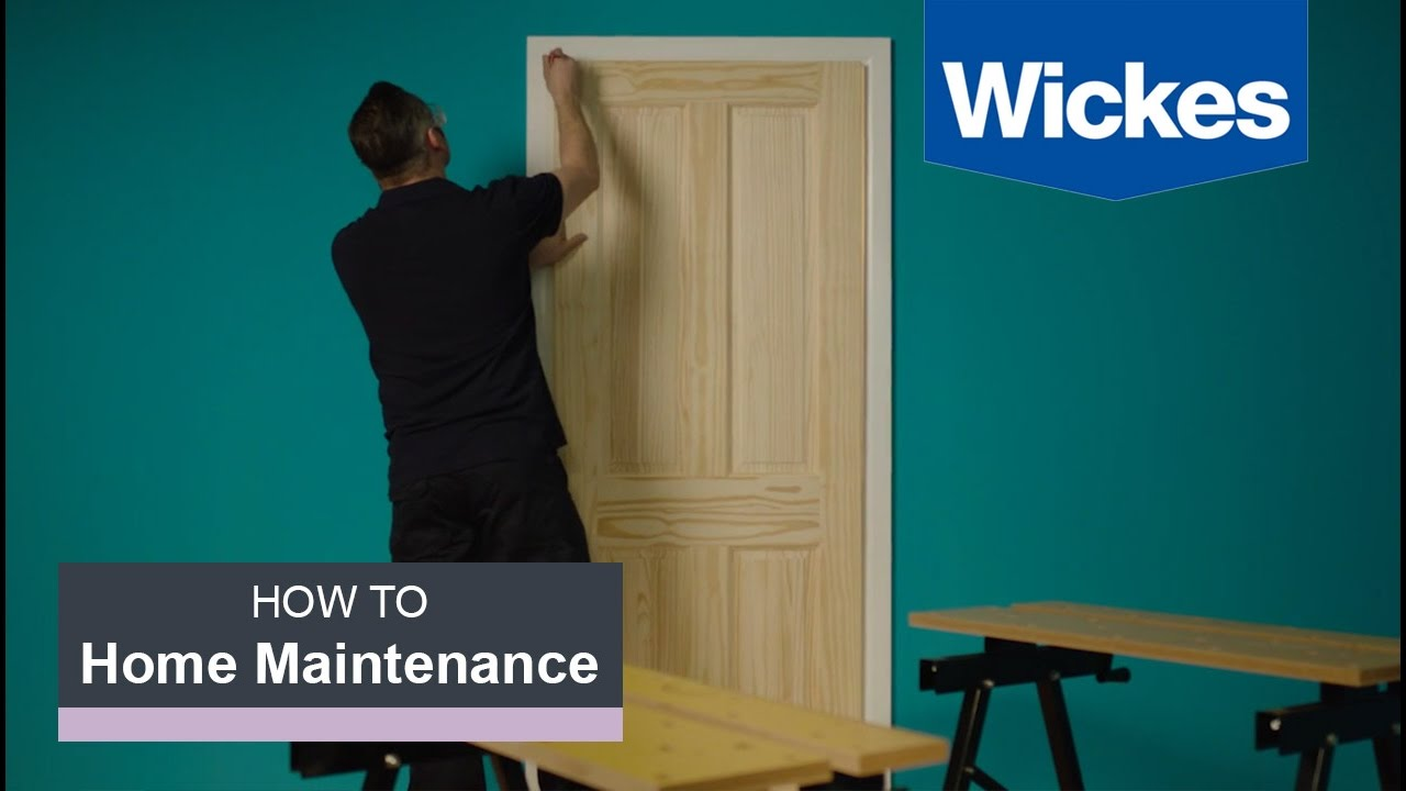 How To Hang An Interior Door With Wickes Youtube