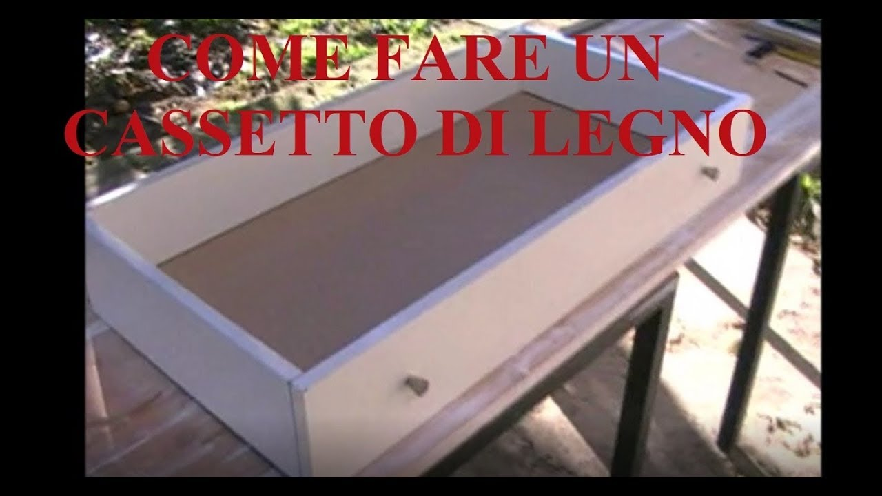 Costruire Cassetto Legno.Tutorial Come Realizzare Un Cassetto Di Medie Grandi Dimensioni Utilizzando Giunti A Barilotto