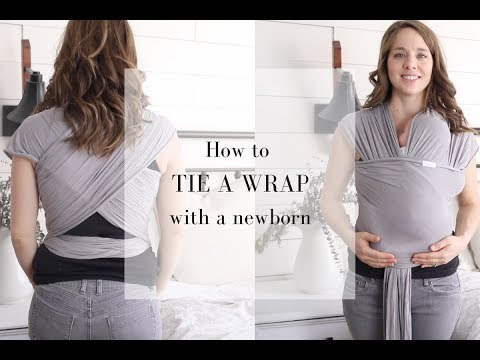 Babywearing Wrap Tutorial- How To Wrap A Newborn In A Moby Wrap